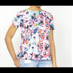 KUT FLORAL BOXY TOP